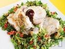 Рецепта Задушена бяла риба с топено сирене